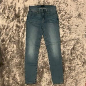 """J. Crew 9"""" High-Rise Toothpick Jeans"""